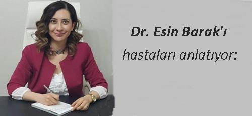 Dr Esin Barak yorum dermatoloji uzmanı